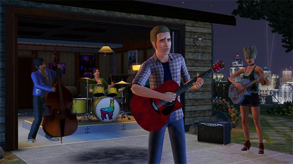 start band i sims 3 aftenunderholdning