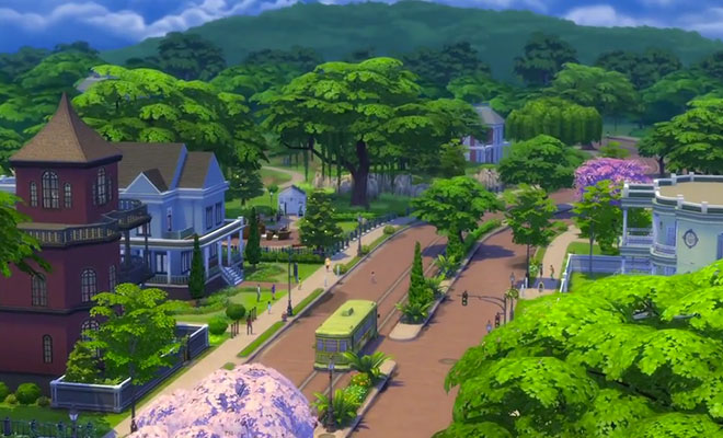 sims 4 willow creek nabolag