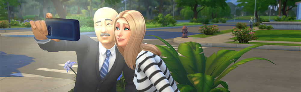 sims 4 selfie time